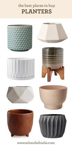 where to buy planters and plant pots