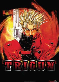 Trigun: Trigun takes place in the distant future on a deserted planet. Vash the Stampede is a gunfighter with a legend so ruthless that he has a $$60,000,000,000 bounty on his head. Entire towns are evacuated upon hearing rumors of his arrival. However, the real Vash the Stampede is not the same man that rumor portrays him to be. The enigmatic and conflicted lead character in Trigun is actually more heroic in nature, and at times a complete and utter idiot.  (see more at myanimelist.net)
