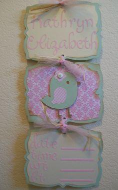Baby Girl Hospital Door Banner Birdie Themed by Little Baby Girl, Little Babies, Baby Love, Hospital Signs, Hospital Door, Girl Baby Shower Decorations, Baby On The Way, 2nd Baby, Welcome Baby