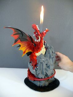 Fire breathing LEGO dragon