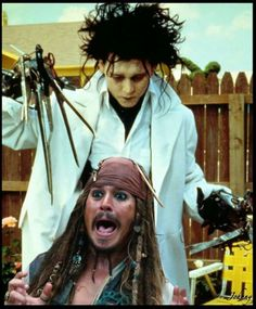 Lol this is awesome. Jack Sparrow and Edward Scissorhands.