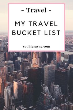 My travel bucket list - travelling is one of my favourite things to do and I love going on new adventures and seeing new places. Having a bucket list of countries and cities I want to visit makes it easier for me to pick my new destination. Time Travel, Travel Tips, Travel Ideas, List Of Countries, Love Is Gone, Adventure Photos, Places In Europe, World Cities, Ultimate Travel