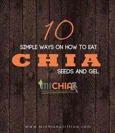 Chia Nutrition, Chia Seeds, Simple Way, Eat