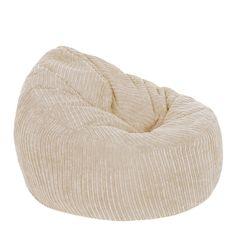 Corduroy Chair Bean Bag   Sand