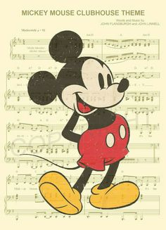 Vintage Mickey Mouse Dictionary Art Print by AmourPrints on Etsy Mickey Mouse Art, Mickey Mouse Wallpaper, Mickey Mouse And Friends, Disney Wallpaper, Minnie Mouse, Disney Sheet Music, Disney Songs, Disney Love, Disney Style