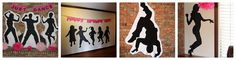 Dance party ideas - like the silhouettes for decor and the idea of to have them make their own dance silhouettes