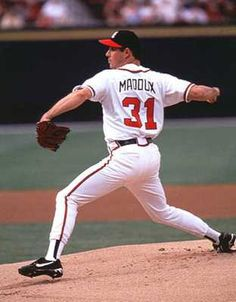 """Greg Maddux, BEST ATL pitcher in franchise history. The """"Mad Dog"""" is the only pitcher in MLB history to win at least 15 games for 17 straight seasons. ;)"""