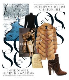"""Wear fur coat!"" by divatmalom on Polyvore featuring Mode, Victoria, Victoria Beckham, Saga Furs, Vince Camuto, Alexander McQueen, Yves Saint Laurent, women's clothing, women's fashion, women und female"