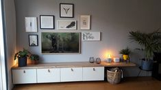 Best Indoor Garden Ideas for 2020 - Modern Living Room Tv, Home And Living, Tv Furniture, Living Room Designs, Family Room, Sweet Home, New Homes, Indoor, Cabinet