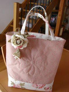 """Patchwork """"Las Magnolias"""": Bolsos de Francesca de Shabby Home"""