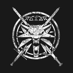 Wild White Wolf The Witcher Wild White Wolf The Witcher Game, The Witcher Books, The Witcher Geralt, Witcher Art, Witcher 3 Wild Hunt, Gamer Tattoos, Wolf Tattoos, Witcher Tattoo, Graphic Pattern