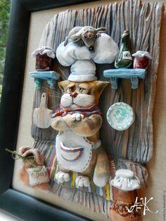 Купить Секретный ингридиент. Панно в интернет магазине на Ярмарке Мастеров Crochet Wall Art, Pasta Piedra, Homemade Clay, Biscuit, Clay Cup, Pottery Classes, Craft Club, Clay Animals, Paper Clay