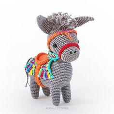 Pedro the Amigurumi Donkey amigurumi crochet pattern