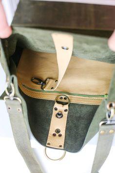 52a5c7e0f52 Green Leather Backpack, Convertible Backpack Purse, Large Leather Backpack,  Women Laptop Backpack. Rugzak TasSuède ...