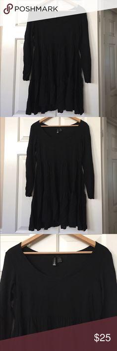 Full Tilt Black Longsleeve Babydoll Dress Size S New without tags Full Tilt Dresses