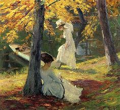 This is a photo of the Edward Cucuel painting titled Autumn Sun.