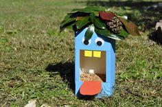 milk carton bird feeder | One more recycled bird feeder ))