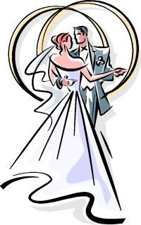 Black And White Wedding Clipart - ClipArt Best