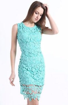 High Street Full Lace Casual Dress