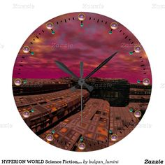 HYPERION WORLD Science Fiction,Sci-Fi Large Clock