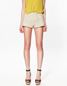 These crochet shorts are to DIE for. I'll take them in black AND cream.