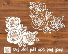 Check out our rose svg selection for the very best in unique or custom, handmade pieces from our shops. Silhouette Cameo, Rose Stencil, Flower Stencils, Flower Svg, Paper Roses, Stencil Material, Decorate Notebook, Stencil Templates, Madeira