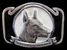Boucle De Ceinture Chien Cool Doberman Pinscher Dogs Animal Pet Belt Buckle