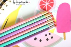 DIY Cute School Supplies & Blotting Sheets | The Classy It Girl - #DIY these #quote pencils  - Love customizing my pencils and I'm obsessed with the pastel colors  #DIY #backtoschool  #diystationery  #diycutestationery