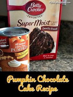 This easy Pumpkin Chocolate Cake Recipe is super delicious and beware you can not eat just one piece! Well you could if you have better self control then me when it comes to pumpkin anything. Chocolate Pumpkin Bread, Chocolate Cake Mix Recipes, Pumpkin Cake Recipes, Dump Cake Recipes, Pumpkin Dessert, Homemade Chocolate, Cake Mix Muffins, Pumpkin Shaped Cake, Yummy Treats