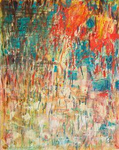 Abstract Painting Brave New Year Original by GwenDudaStudios