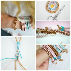 Leather Bracelet DIY   #DIY #Bracelet #Fun #crafts #easy