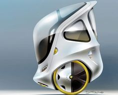 Concept for enclosed, segway-like, vehicle.