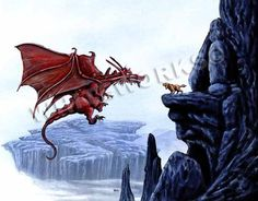 watch dog dragon protecting home mountains cave by whiteworksart