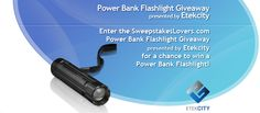 Tell us why you would like to win a Power Bank Flashlight and you could win a 2-in-1 Cree XP-E 300 Lumens 3 Modes Adjustable Focus LED Flashlight from Etekcity! Enter daily for more chances to win.