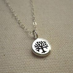 Tiny Tree of Life Necklace Stamped Sterling Silver  by Peytra, $29.00
