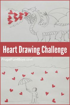 Hearts in Unusual Places!  An Art Challenge for Kids