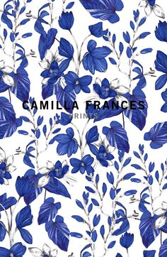 Camilla Frances is a individual print creator, leading a team that combines unique, personal design sensibilities with traditional hand drawing techniques to craft an ever-growing world of prints. Textile Prints, Textile Patterns, Textile Design, Fabric Design, Textiles, Art Prints, Pretty Patterns, Beautiful Patterns, Color Patterns