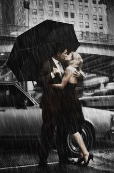 Our kiss in the rain..............