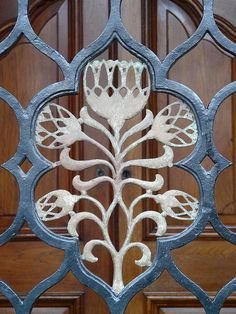 King protea - flower pattern on grille at South Africa House by L'habitant, via Flickr