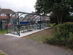 Falco manufactured and installed a powder coated FalcoQuarter cycle shelter with Toaster cycle racks to accommodate 20 bikes with a scooter rack to accommodate 8 scooters at the Grange Junior School in Swindon.