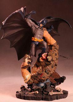 Estatua DC Cómics. Batman vs. Killer Croc 42 cm. 2ª edición. DC Collectibles