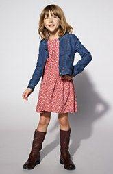 Tucker & Tate Dress & Denim Jacket (Big Girls)