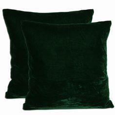 Lend softness and style to your sofa or bed with these square velvet throw pillows. This pair of green pillows is a delightfully colorful addition to your space and provides the ultimate in softness with their gray duck feather and down fill.