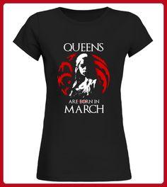 Queens Are Born In March TShirts - Shirts für freundin mit herz (*Partner-Link)