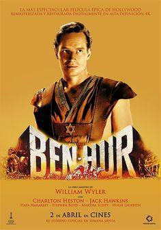 1959. Ben-Hur es acusado de atentar contra la vida del nuevo gobernador romano, y Mesala lo encarcela a él y a su familia. Mientras Ben-Hur es trasladado a galeras para cumplir su condena, un hombre llamado Jesús de Nazaret se apiada de él y le da de beber.