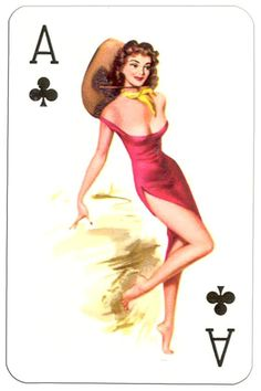 – Ace of clubs Van Genechten Glamour Girls pinup cards Playing Cards Art, Vintage Playing Cards, Pin Up Kunst, Dibujos Pin Up, Pin Up Drawings, Vargas Girls, Pin Up Girl Vintage, Nose Art, Art Graphique