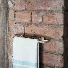 All our hardware is cast by hand in the UK. Solid bronze hand towel rail - ML Interior Design Home Store - £105