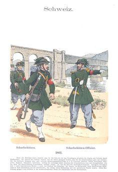 Band IX #40 - Schweiz. Scharfschützen, Scharfschützen-Offizier 1862.