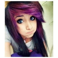 Emo Eye Makeup For Girls ❤ liked on Polyvore featuring hair and people