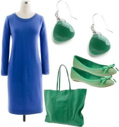 """""""Monaco Blue + Emerald"""" by kluster on Polyvore"""